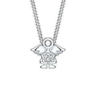 Elli Halskette mit Mädchen Anhänger und Silber Mädchen
