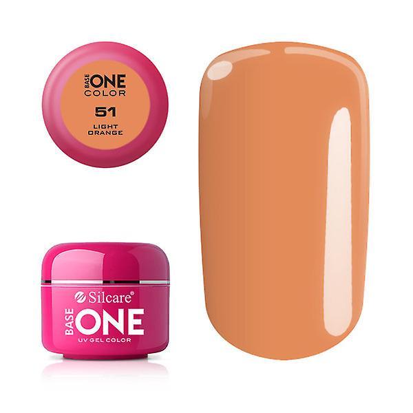 Base en-farge-lys oransje 5G UV gel