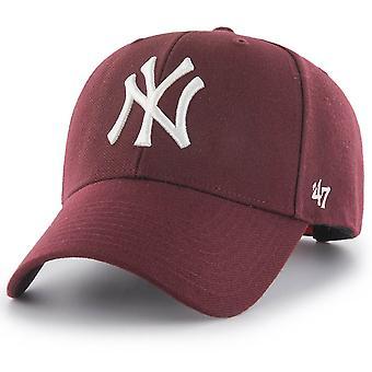 47 العلامة التجارية Snapback كاب MVP نيويورك يانكي الظلام المارون