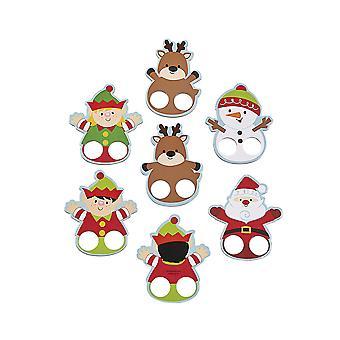 12 рождественских палец куклы для детей праздничный сторон