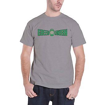Green Lantern T camisa para hombre vintage Logo crujido nuevo oficial DC Comics hombre gris