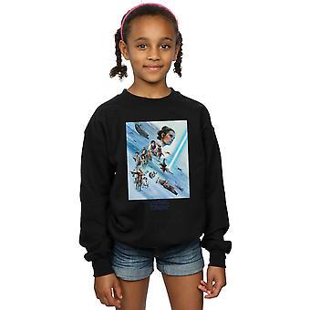 Star Wars The Rise Of Skywalker Resistance Poster Girls Sweatshirt