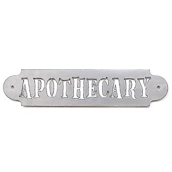 Apothecary - metal cut sign 16x4in