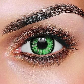 Glamour grön kontaktlinser (par)