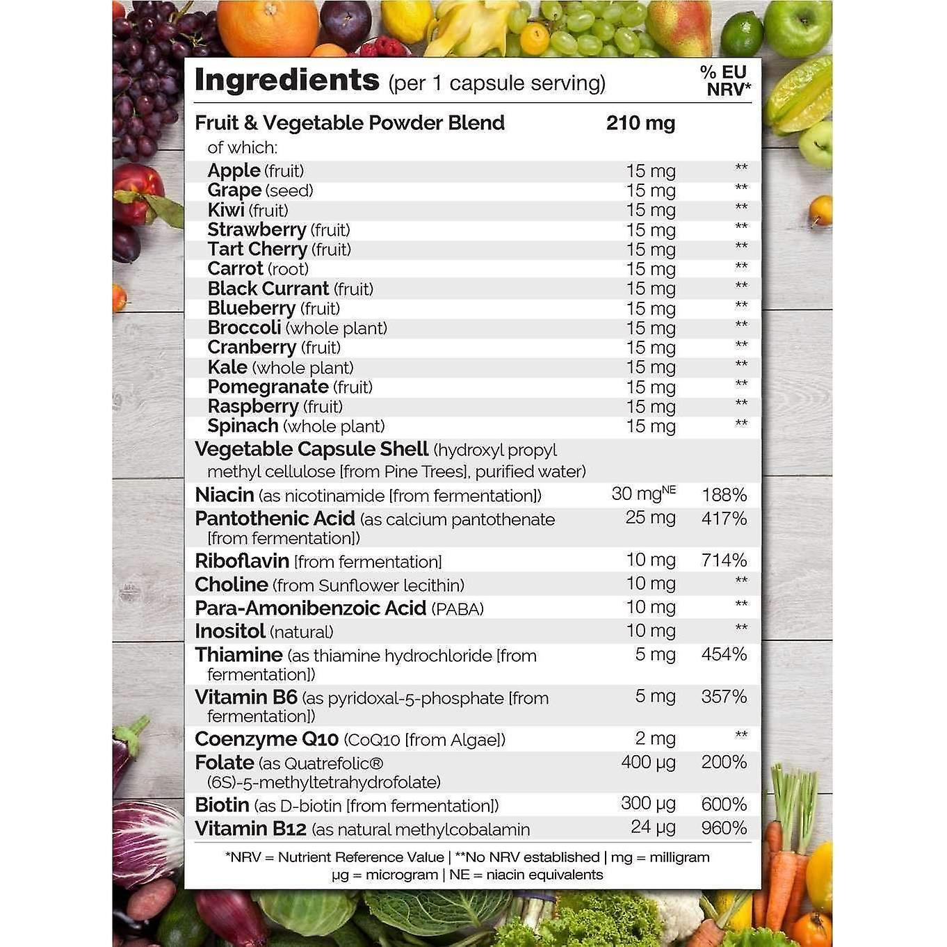 B complex met natuurlijke vitamine B6, folaat, B12 & Biotine