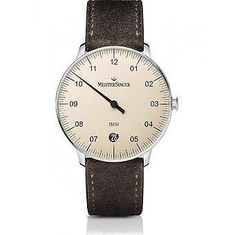 MeisterSinger Men's Watch One-Hand Clock with Additional Function Automatic Neo NE903N_SV12