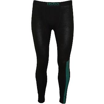BOSS Logo Block Long Johns, Nero/teal