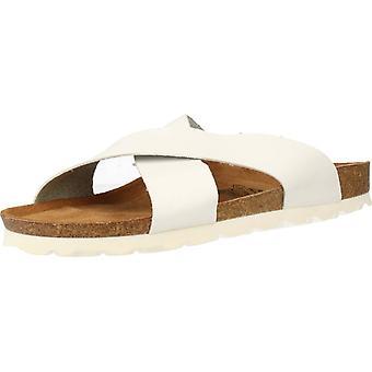 Gele winkel sandalen Adallas kleur wit