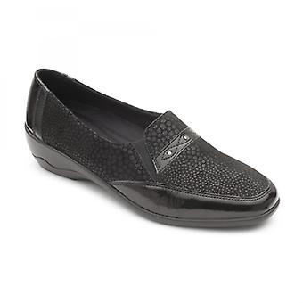 Padders Opal Ladies Leather Wide (e/2e) Shoes Black