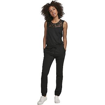 Urban Classics Ladies - Lace Lace Jumpsuit Black