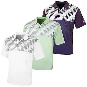 Island Green Mens Snaps Placket CoolPass Golf Polo Shirt Tech