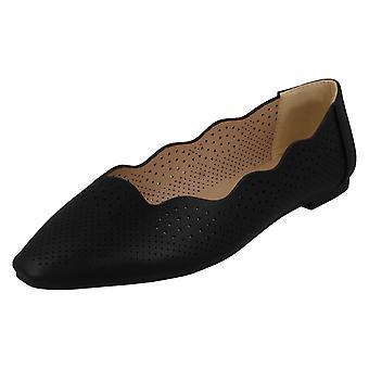Naisten slip on ballerina tasainen kengät F80459