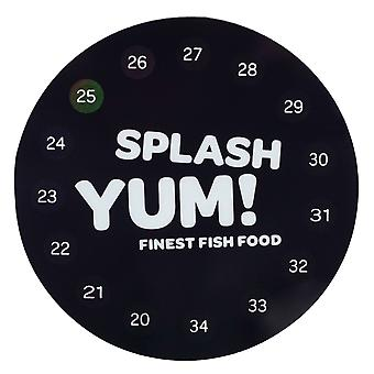 SplashYum! Digital aquarium thermometer round self-adhesive directly on glass pane with precise temperature display