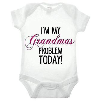 Eu ' m meu avós problema manga curta babygrow