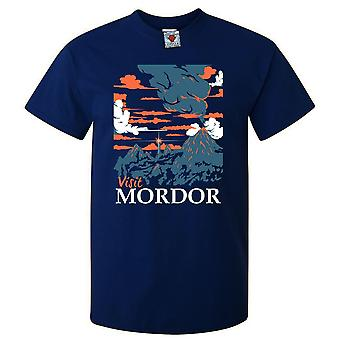 Les hommes visitent le t-shirt mordor.