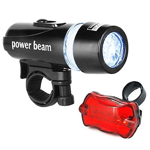DIGIFLEX Waterproof 5 LED Bike Bicycle Head + Rear Light 6 Modes for Night Safety