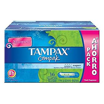 Tampax Compak Super Tampon 36 Units