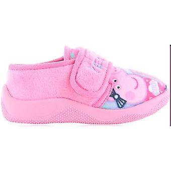 Peppa Girls Cartoon Character Bonita Pink Slipper