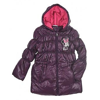 Girls Disney Minnie-Mouse Hooded Winter Jacket