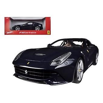 Ferrari F12 Berlinetta Blue 1/18 Diecast Model Car par Hotwheels