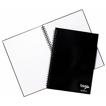 Tiger Stationery 60 Sheet Twin Wire Ring Bound Notebook