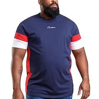 Duke D555 Mens Baker Big Tall Casual Crew Neck Short Sleeve T-Shirt Top - Navy