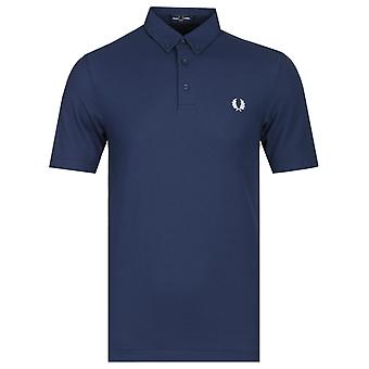 Fred Perry Button Down Royal Blue Polo Shirt