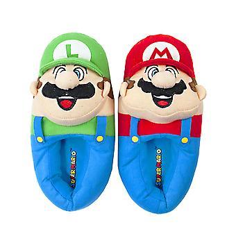 Nintendo Super Mario Bros Mario Et Luigi Men-apos;s Novelty 3D Slippers