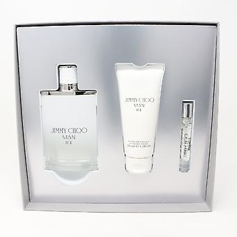 Jimmy Choo Man Ice Eau De Toilette 3 Pcs Set  / New With Box