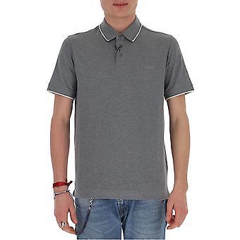 Z Zegna Vu360zz661k96 Männer's grau Baumwolle Polo Shirt