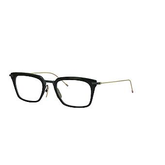 Thom Browne TBX916 01 Black-Black Iron-White Gold Temples Glasses