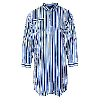 Walter Grange Mens Traditional Striped Cotton Nightshirt