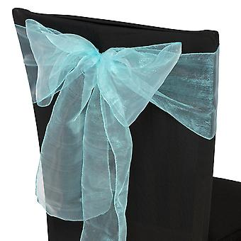 17cm x 274cm Organza Table Runners Wider & Fuller Sashes Turquoise