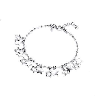 David Deyong Sterling Silver Stars Charm Bracelet