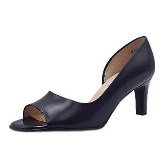 Peter Kaiser Beate Stylish Open Toe Shoes In Notte Chevro