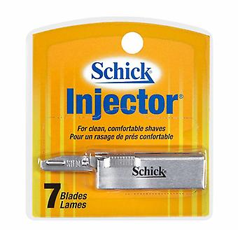 Schick injector plus blade, chrome, 7 ea