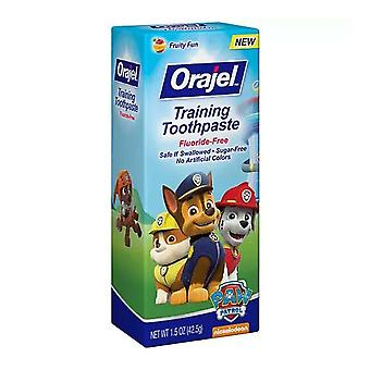 Orajel toddler training toothpaste, tooty fruity, 1.5 oz