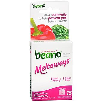 Beano meltaways food enzyme dietary supplement, strawberry, 15 ea
