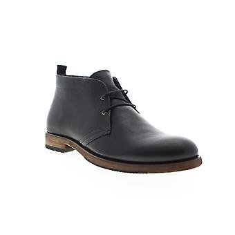 English Laundry Sheffield  Mens Black Leather Lace Up Chukkas Boots Shoes