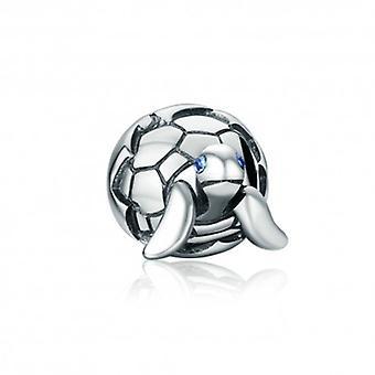 Tartaruga de charme de prata esterlina - 5294