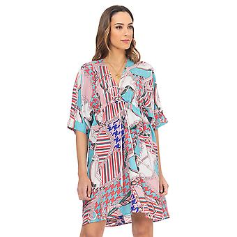 Kurta printed dress with condom frown on the chest
