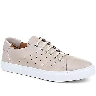 Jones Bootmaker Womens Farrah Leather Lace-Up Trainer