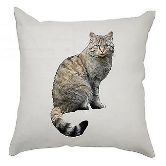 Animal Cushion Cover 40cm x 40cm Hairy Cat
