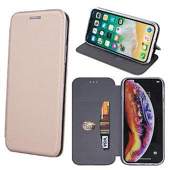 Huawei Y6 (2019) - Smart Verona flip case mobiililompakko - kulta