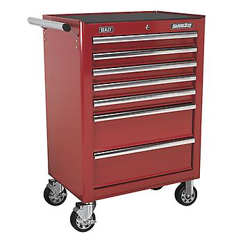 Sealey Ap26479T Rollcab 7 Drawer With Ball Bearing Runners - Red