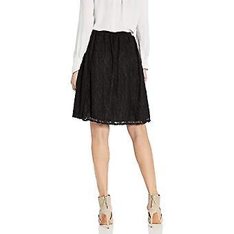 Star Vixen Women's Skater Short Full Skirt, Black, Large