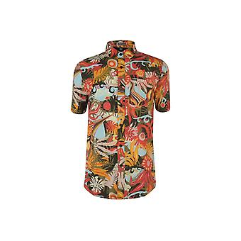 Volcom Mens Psych Floral Short Sleeves T-shirt