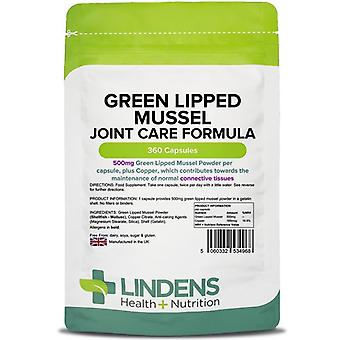 Lindens Green Lipped Mussel 500mg Capsules 360 (4968)