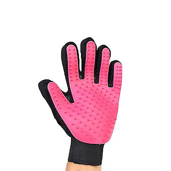 Pink Left Hand Silicone Pet Grooming Glove