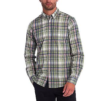 Barbour Men's Madras 6 Shirt Tailored Fit Olive